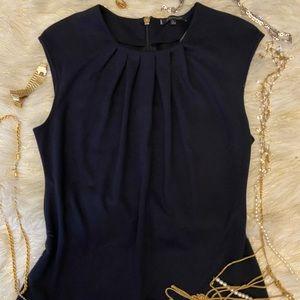 Anne Klein Cap Sleeve Top w Gathers Below Neckline